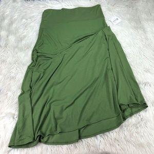 NWT LuLaRoe Solid Green Maxi Skirt